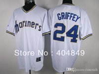 aa baseball - 2016 New AA multi type Ken Griffey jersey Mariners white cooperstown gray navy green teal sale Jersey custom