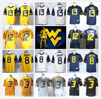 bailey jersey - Stitched NCAA West Virginia Mountaineers College Andrew Buie Tavon Austin Karl Joseph Smith Stedman Bailey Football Jersey Sport
