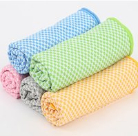 bamboo bath towel set - Bamboo Fiber Cooling Towel Camping Hiking Gym Exercise Workout Towel Ice Fabric Soft Breathable Sports Towel Medical Cool Towel LC384