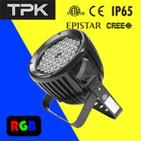 Wholesale 40W to V AC Outdoor Waterproof IP65 DMX RGB led spot stage light round Angle rotation UL CE RoHS led wall washer
