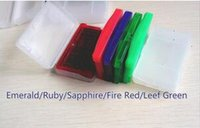 Wholesale Video Games for boy Adcance Hottest Mix order poke emerald fire red leef green ruby sapphire Custom order can ship Very faster