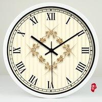baroque wall clock - Simple European style elegant decorative Baroque living room clock quartz clock wall clock OC