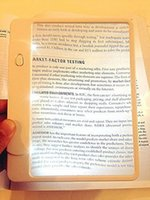 Wholesale Magnifying Sheet Lens x Magnifier Reading Aid Glass Easy Page Read with LEDs Light