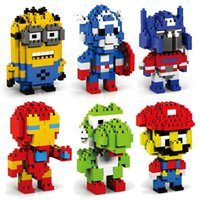 Wholesale LOZ D puzzle building blocks Diamond blocks The Avengers Ninja turtle Despicable Me intelligence educational toys Birthday gifts