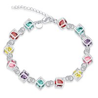 Wholesale New products listed Silver plated Colorful fashion bracelet women jewelry