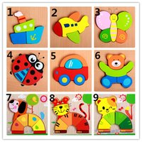 Wholesale Child cartoon small three dimensional jigsaw puzzle d puzzle animal wooden children s play