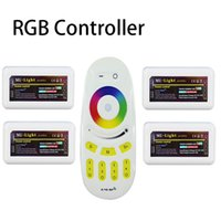 Wholesale RF RGBW Remote Controller x RGB LED Controller Box Group G Zone Wireless RF Touch For RGB Led Strip Light
