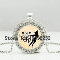 american quotes - New Never Grow Up Necklace Glass Peter Pan Quote Photo Jewelry Crystal Pendant Ball Chain Necklace