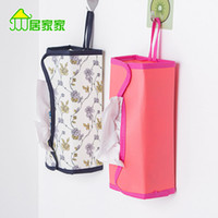 Wholesale Car cloth towel hanging bag tissue boxes bathroom towel sets tissue pumping tray hanging bags