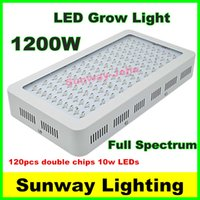 grow light - Double Chips x10watt LED grow light w Grow panel Band Full Spectrum Red Blue White UV IR Led Plant Growing Lighting Lamps