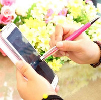 Wholesale DHL Luxury Bling in Slim Crystal Diamond Stylus and Ink Ballpoint Pens For ALL Touch Screen Devices