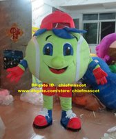 baseball softball shoes - Athletic Green Tennis Tenis Ball Baseball Softball Soft ball Mascot Costume Cartoon Character Mascotte Red Blue Shoes No FS