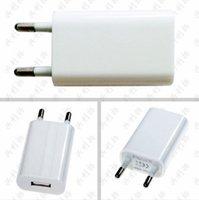 Wholesale White Universal USB Power Adapter EU Plug V Usb Wall Charger For iPhone s s For LG Samsung Adaptador Usb