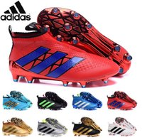 ag red - Adidas Originals hot sell soccer shoes black green fashion Ace16 Purecontrol FG AG no lace Waterproof football boots mens soccer cleats