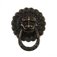 antique dresser box - Dorabeads Jewelry Wooden Box Pull Handle Dresser Drawer For Cabinet Door Round Antique Bronze Lion Face Pattern mm