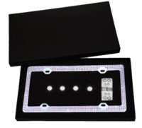 Wholesale Bling License Plate Frame with Screws and Crystal Rhinestone Caps Purple frame license plate frame speaker