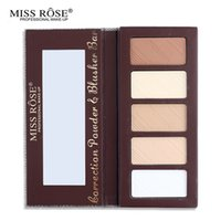 beautiful highlighter - Makeup Professional Colors Light Highlighter amp Bronzer Powder Palette Beautiful Box Oil free With Mirror Miss Rose Cosmetic