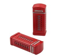 Wholesale 7 cm mini telephone booth style Portable fashion Eco Friendly Pocket Shatterproof Cigar metal Square and round Ashtray