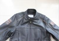 al por mayor los hombres de la chaqueta de cuero de vaca-El hombre chaquetas de cuero para hombre de automovilismo primera capa de la chaqueta de cuero de vaca de la chaqueta de la motocicleta Harley capa esencial