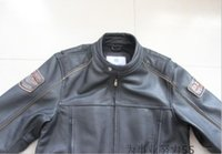 Wholesale Man motor racing jackets Mens Leather first layer of cow leather jacket motorcycle jacket Harley essential coat