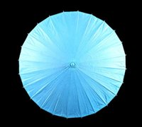 adult paper crafts - New blank paper parasols Elegant Bridal wedding parasol Chinese craft umbrellas Long handle Adult size colors available Drop shipping