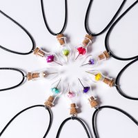 best wishes flowers - DIY Handmade Fashion Glass Wish Bottle Pendant Necklace Best Sellers Color Dry Flower Best Friend Necklace
