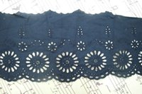 Wholesale Navy blue Cotton Lace trim DIY Craft sewing cm inch