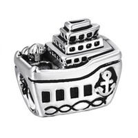 alloy yachts - ashion Jewelry Charms Sterling Silver Charms Passenger Liner Yacht European Charm Beads For Snake Chain Bracelet Bangle DIY Fashion J