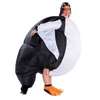 air tv cosplay - Adult Inflatable Penguin Bird Costume for Men Women Unisex Cosplay Party Animal Mascot Halloween Stage Club Fancy Dress Air Suit