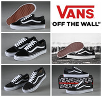 Wholesale VANS Classic Old Skool Low Cut Casual Canvas Shoes Classical White Black Brand Women And Mens Sneakers Skateboarding Shoes