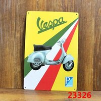 Wholesale VESPA Tin Sign Bar pub home Wall Decor Retro Metal Art Poster