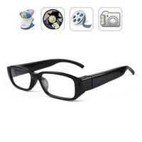 Wholesale 10pcs HD P Mini Spy Hidden Glasses Camera Spy Eyewear Camera Video Recoder Portable Security Camcorder Mini Sunglasses DVR