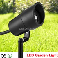 Wholesale Outdoor Low Voltage LED Garden Spot Light V W COB IP67 Garden Grondspots Spike Lawn Light Lamp Tree Flood Landscape Lighting Spotlight