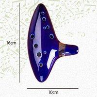 Wholesale 12 Hole Ocarina Ceramic Alto C Legend of Zelda Cheap Ocarinas Flute Ceramic Musical Instrument Ocarina Stancealto C Legend Zelda