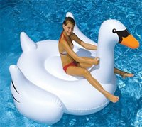 Wholesale 1 M Giant Swan Inflatable Flamingo Float New Swan Inflatable Floats Swimming Ring Raft swimming pool toys For Kids And Adult DHL free