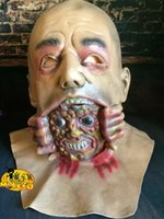 Wholesale Latex Bald Big Ghost Masks Devil May Cry Zcreaming Zombie COS Cry Biochemical Terror Halloween zombie Head