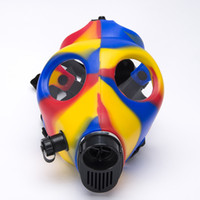 Cheap 2pcs Mask Only Mixed Color Healthy Silicone Gas Mask Fully Colorful Color Smoking Filter Tool Also Sell Acrylic Pipe Christmas 125