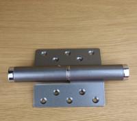 Wholesale 6 inch Invisible door aluminum alloy hydraulic pressure door hinge buffering positioning automatically closed door closer left hinge grey