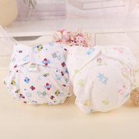 Wholesale Retail Washable Reusable Baby Diapers Waterproof Newborn Fitted Baby Cloth Pants Cover Cotton Night Boys Girls Diapers