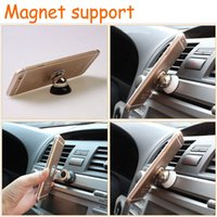 Wholesale Rotatable Magnetic Car Mount Holder For Samsung s6 Accessories GPS Stent For Iphone s s Stand Support Magnetic Cell Phone Car Holder