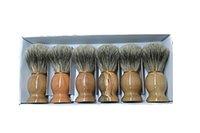 Wholesale 2016 Branded Man Face Cleaning Brush Black Handle Superfine Pure Blaireau Shaving Beard Brush Shaving Brush Male Cleaning Tool