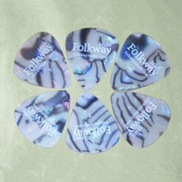 Wholesale Standard Celluloid Pearl Shell Guitar Picks High Quality Printing White Logo