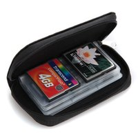 Wholesale FREE DHL Memory Card Storage bag Carrying Pouch Case zipper wallet Packet For CF SD SIM TF Micro card Ten Colors