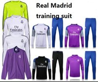 Wholesale 16 new Real Madrid Real Madrid coat soccer uniform jacket training suit pants suit Real Madrid home AWAY