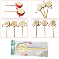 Wholesale Baby Kids Child Wood Rattle Drum Instrument Child Musical Toy Chinese Styles Hot Selling