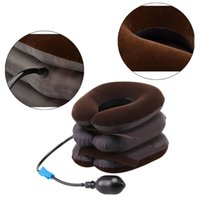 air neck traction - High Quality Air Cervical Neck Traction Soft Brace Device Unit for Headache Head Back Shoulder Neck Pain Health Care