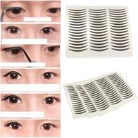 Wholesale Eyeliner Sticker Korea Advanced Black Eyeliner Paste Paper Stickers Invisible Sharp Double Eyelid eye shadow Cosmetics Smoky Eyes