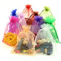 venda por atacado gift wrapping-7 * 9 9 * 12 11 * 16 Drawstring Organza Saco Natal jóias Doce Sacos Gift Bag Wrapping Jóias Snacks Pouch Package Decoração do Partido