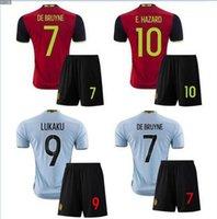 Wholesale Top Quality Belgium Soccer jerseys kits Home Away Maillot De Foot set Shirt Belgium Soccer Jersey Belgium Jersey sets