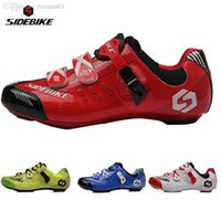 Wholesale SIDEBIKE Professional Bicycle Cycling Air flow Vents Soles Shoe Road Bike Racing Self Locking Shoes Outdoor Sports Athlete Shoes